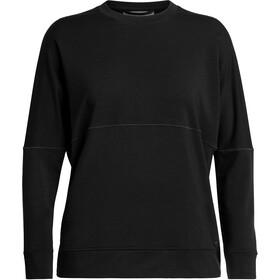 Icebreaker Momentum Longsleeve Crew Shirt Dames, black